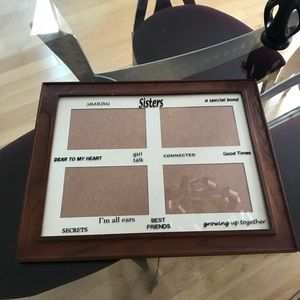 Other - Large wall hanging sisters picture frame